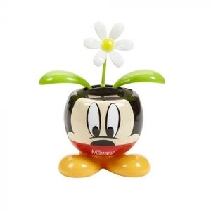 DISNEY MICKEY MOUSE 5 IN SOLAR DANCING FLOWER NEW